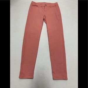 White House black market Coral pink ankle jeans 2